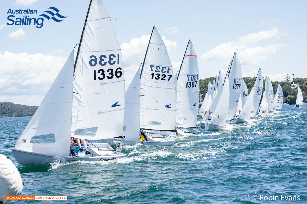 Sail Sydney start line perfection CREDIT Robin Evans.