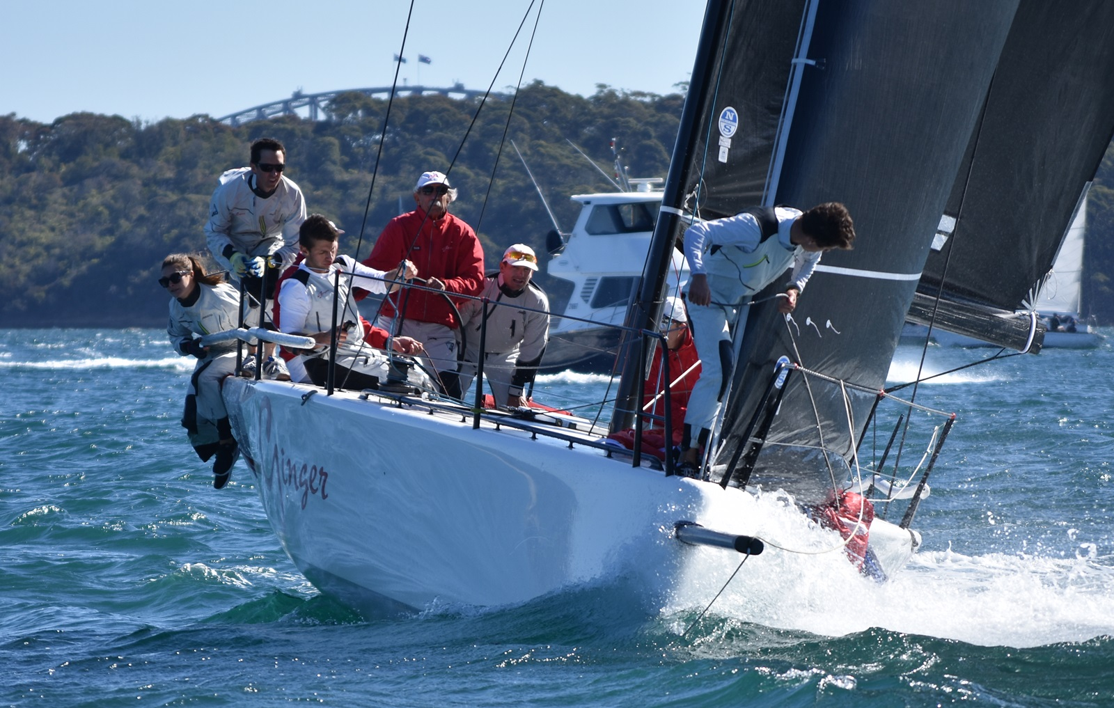 MC38 Winter Act 4 and season winner ginger with Leslie Green on the helm_credit David Staley MHYC.