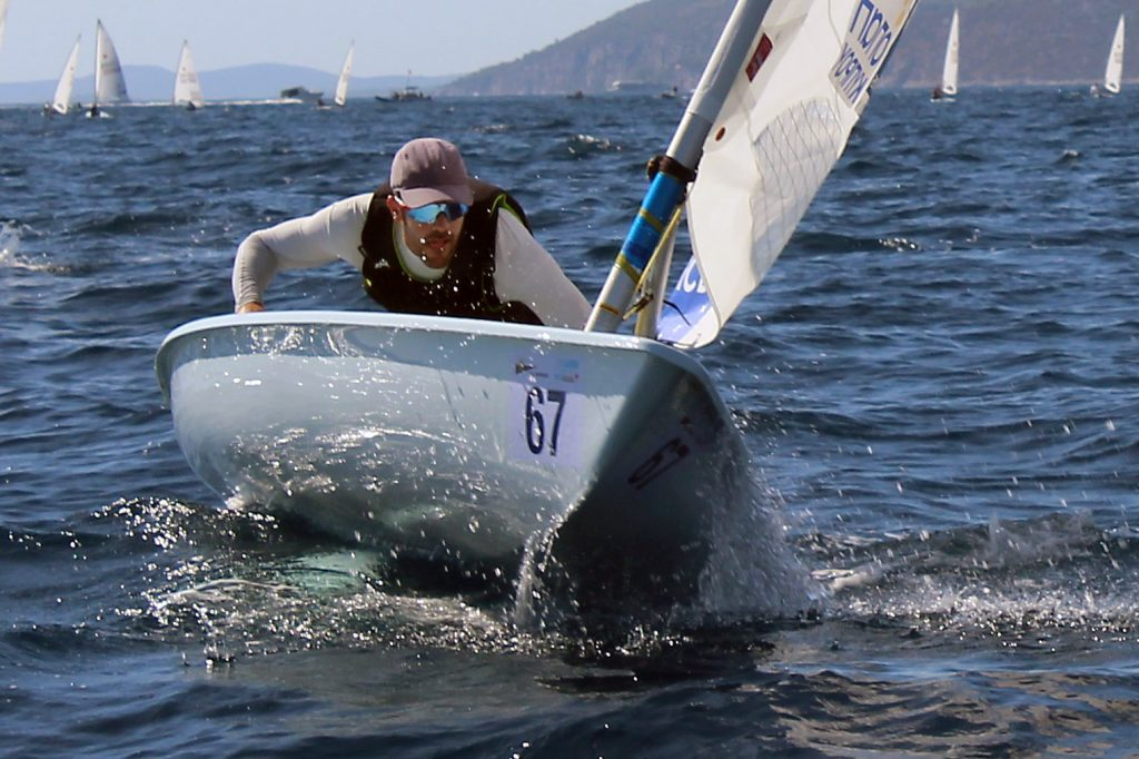 2012 Olympic silver medallist Pavlos Kontides (CYP) had a good start to the 2017 Laser Worlds. Photo ILCA.