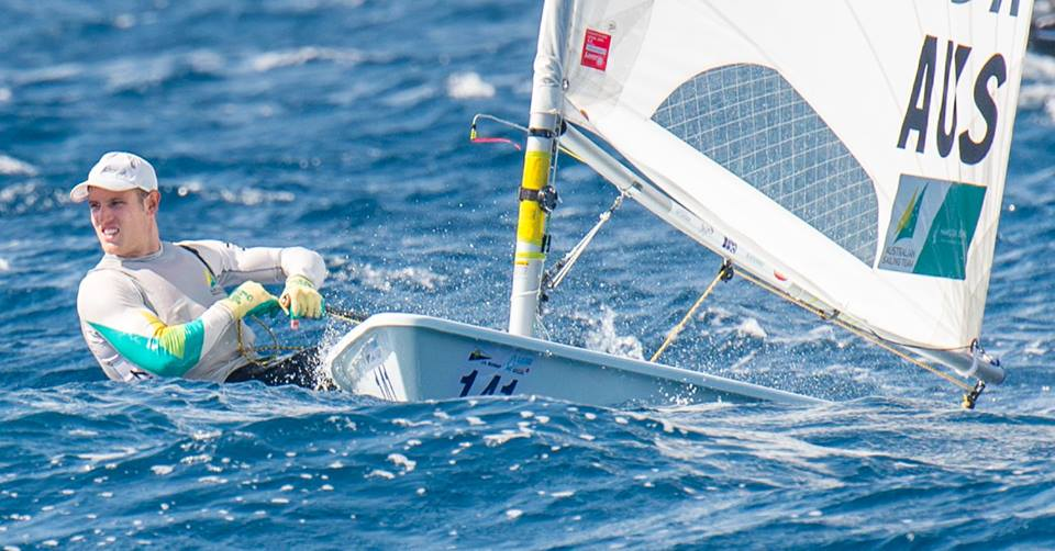Matt Wearn at the Laser Worlds in Split. Photo ILCA.