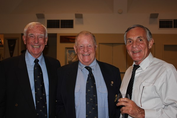 John Messenger (centre) with Richard Cawse and Rob Scrivenor. Photo CYCA Staff.