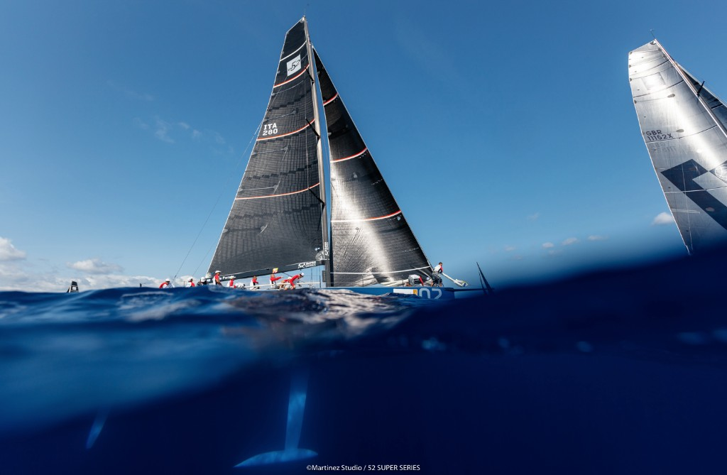 Azzurra hold their lead at the top of the season table. Photo Martinez Studio/TP52 Super Series.