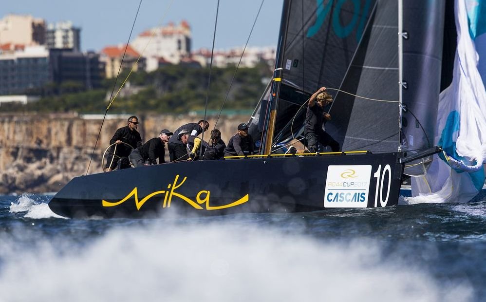 Team Nika would be holding second overall had their transom not collided with Charisma. Photo Martinez Studio.