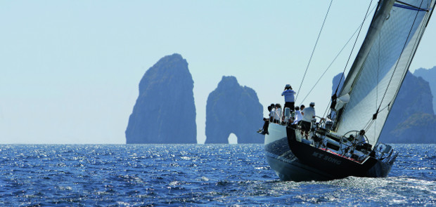 My Song prepares to tackle the Faraglioni off Capri. Photo: Francesco Rastrelli /CRVI.