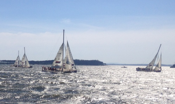 The Clipper fleet leaves Uruguary.