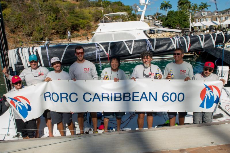Team Taz - The RORC Caribbean 600 will be Bernie Evan-Wong's 10th as skipper © RORC/Ted Martin.