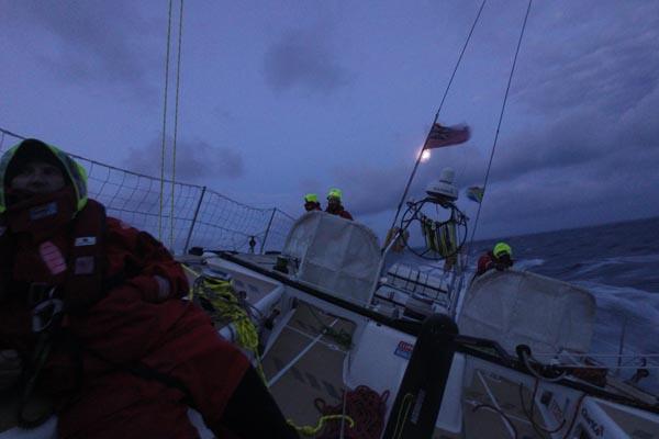 On board Greenings in the Clipper Race