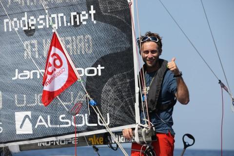 Ian Lipinski finished the first leg of the Mini Transat. Photo © Christophe Breschi .