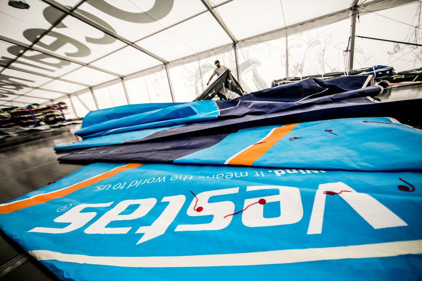 Inside the Volvo Ocean Race loft. Photo © Jesus Renedo/Volvo Ocean Race.