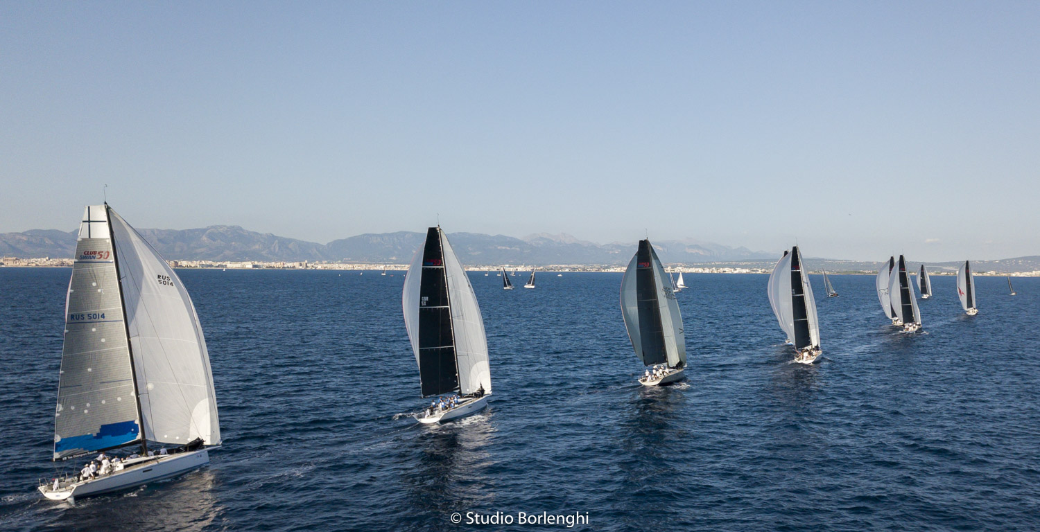 Downwind-ride-for-the-11-strong-ClubSwan-50-fleet