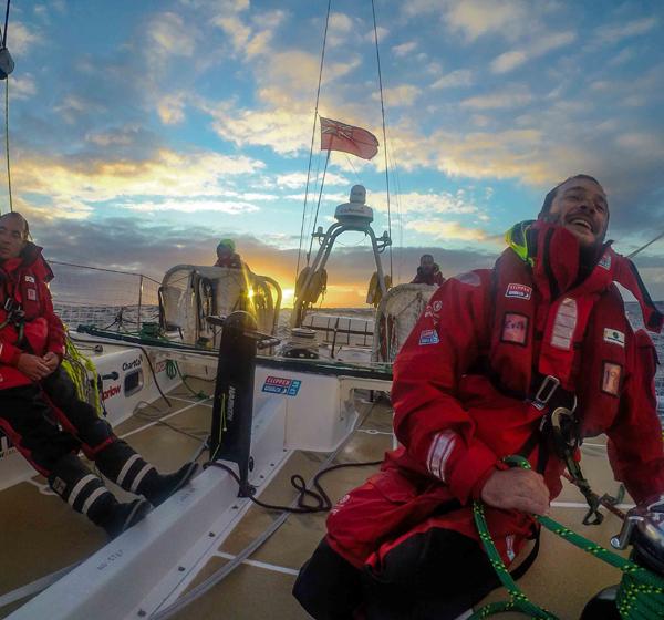 Clipper Race approaching Cape Town. Photo Clipper Ventures.