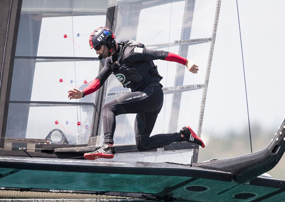 Sir Ben Ainslie will take to the helm of Land Rover BAR Academy during Act 7