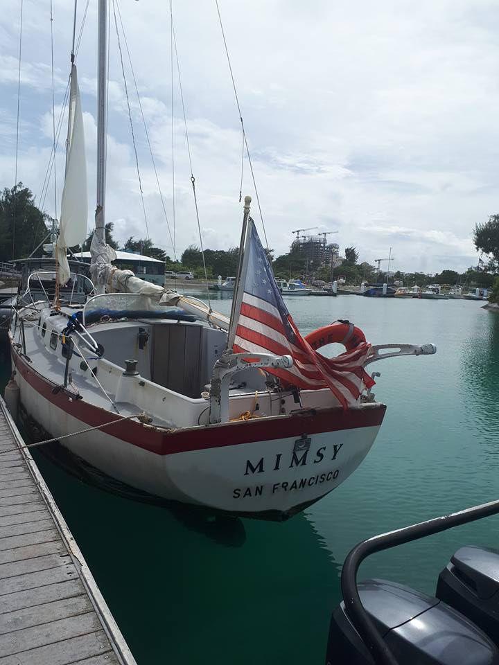 Rimas Meleshyus' yacht. Photo Sherri Rigs/KSPN2 News.