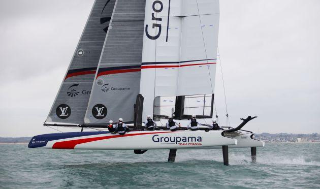 Groupama Team France AC45 Series. Copyright : Didier Ravon.