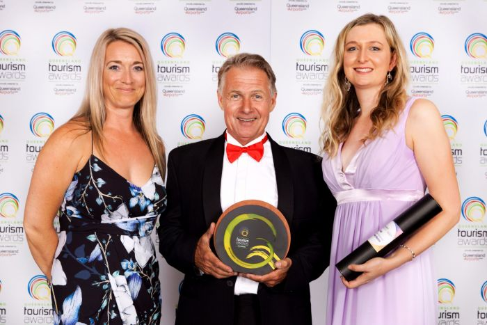 Abell Point MArina owner Paul Darrouzet with the major award.