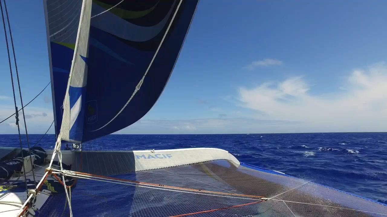 On board Macif. Credit: François Gabart / Macif
