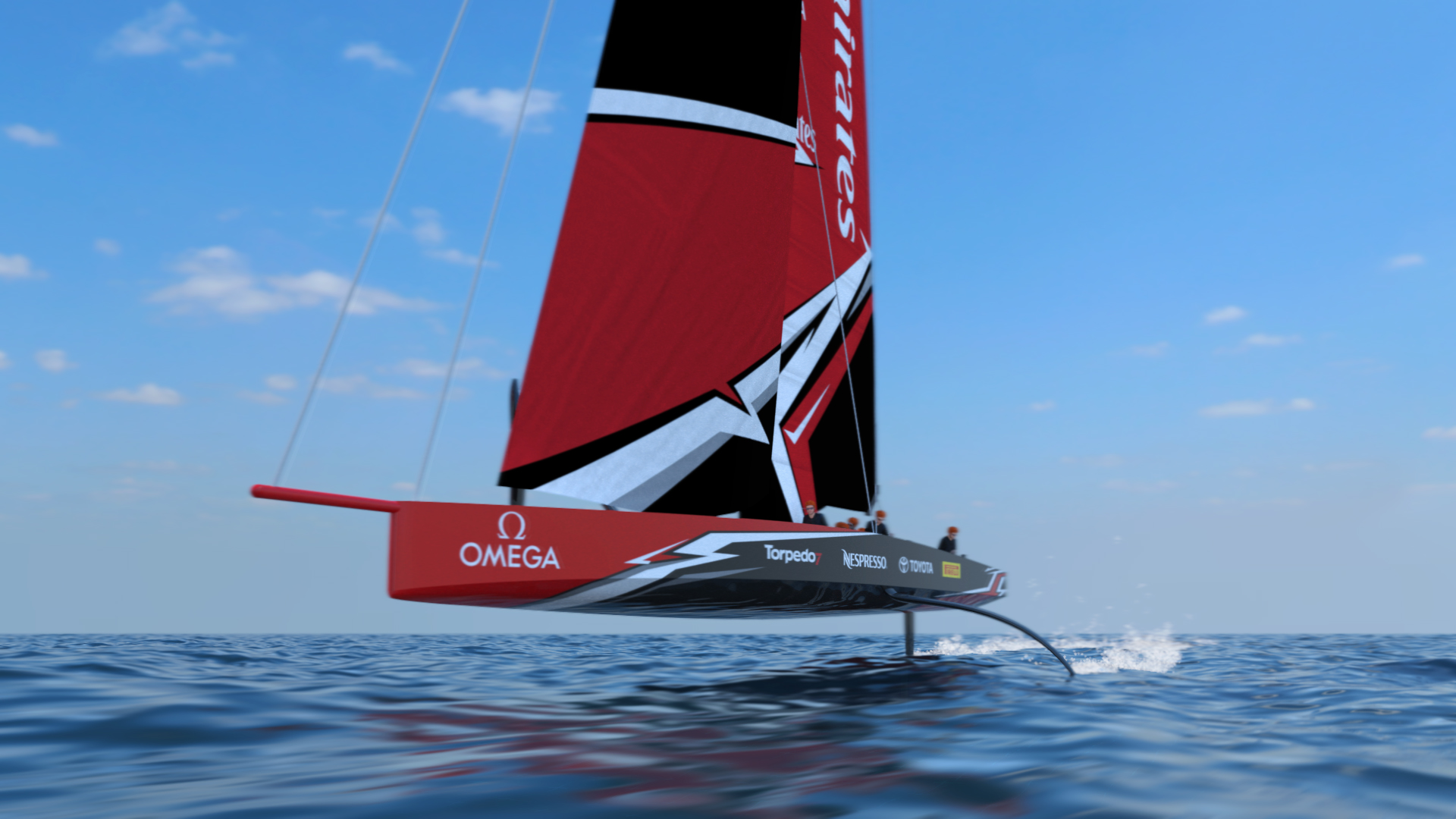 The fully foiling AC75.