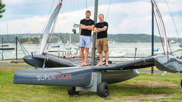 Iain Jensen and Glenn Ashby on the SuperFoiler.