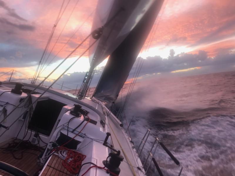 Third day at sea in the RORC Transatlantic Race to Grenada - photo from on board Friedrich Boehnert's Xp-50 Lunatix.