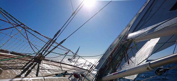 The Clipper fleet leaves Fremantle.