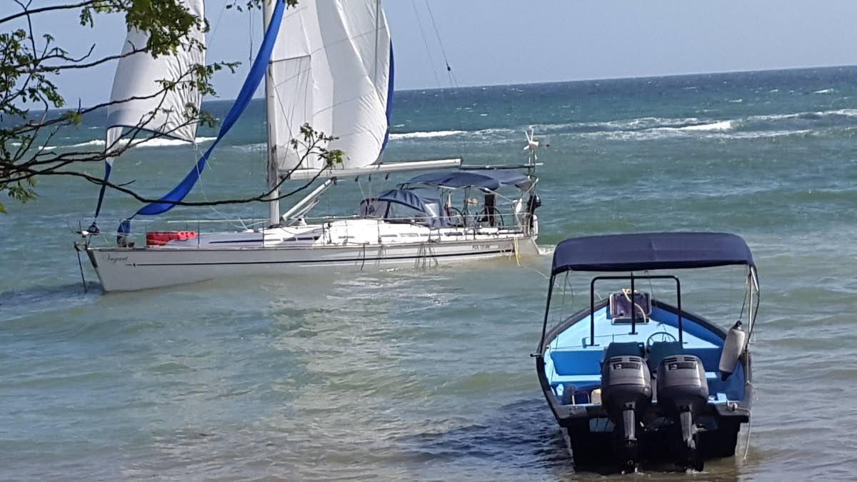 Run aground: Polish yacht