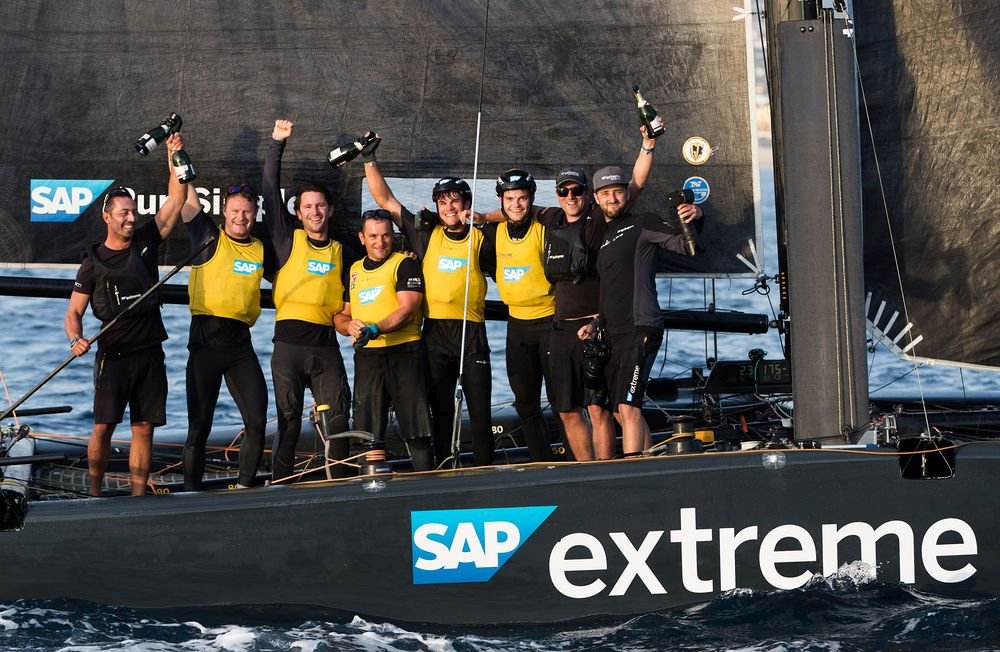 SAP Extreme Sailing Team is crowned champion of the 2017 Extreme Sailing Series™ in Los Cabos