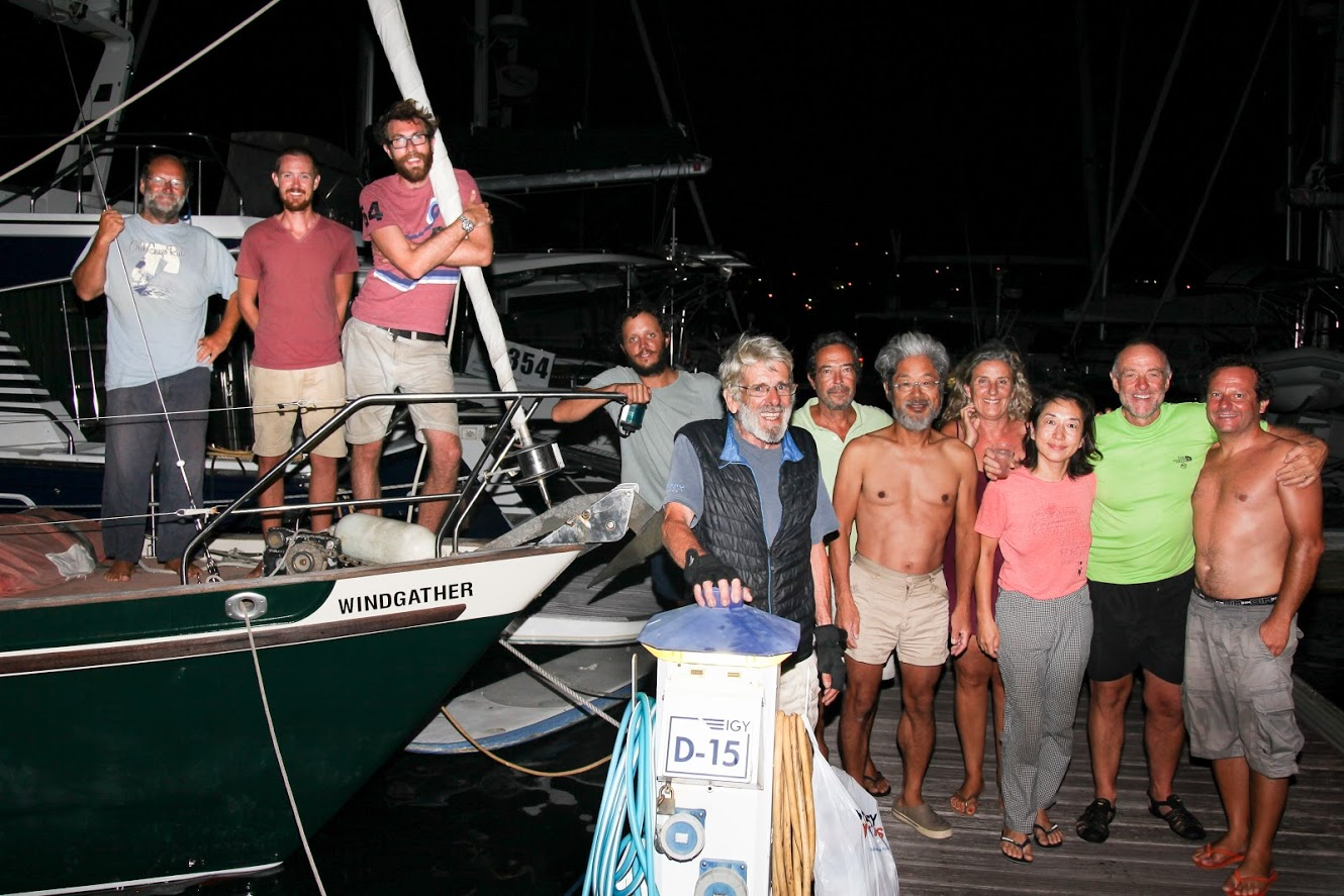 Windgather arrive in Rodney Bay Credit: WCC / Clare Pengelly.