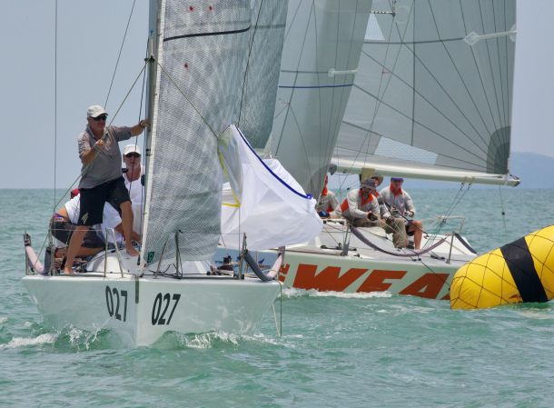 The one-design Platu class delivers some very close racing. Photo by Guy Nowell/ Top of the Gulf Regatta.
