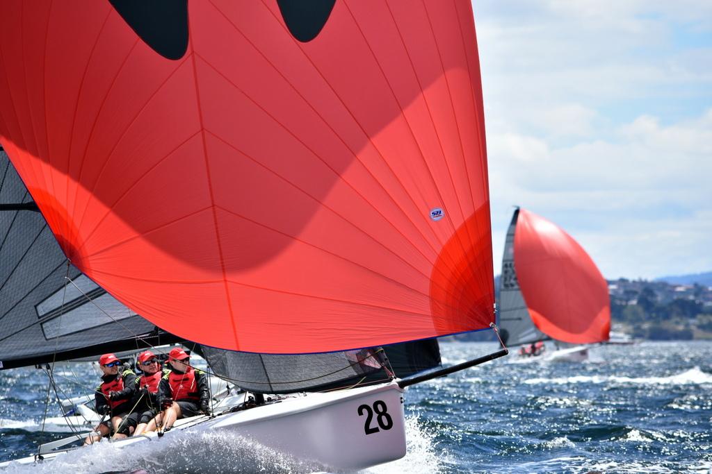 SB20 pre-Worlds in Hobart. Photo Jane Austen.