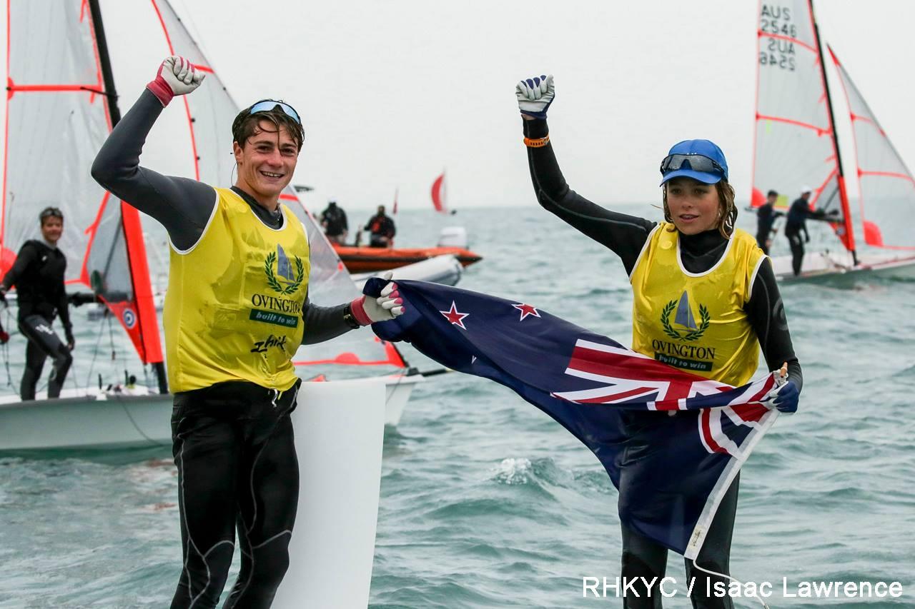 Francesco Kayrouz and Jackson Keon (NZL) are 2018 World 29er Champions.