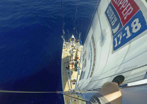 Qingdao in the Clipper Race up the Australian coast. Photo Clipper Ventures.