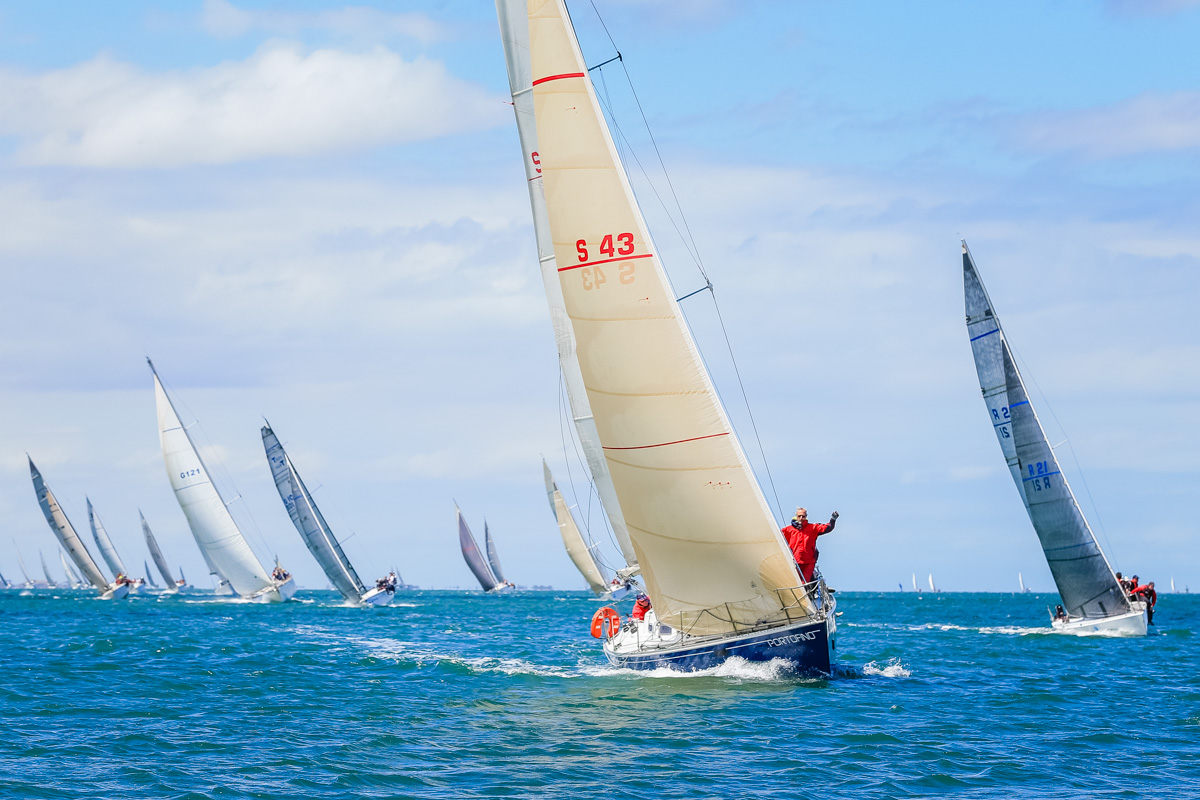 Passage race finish at Festival of Sails. Photo Saltwater Images.