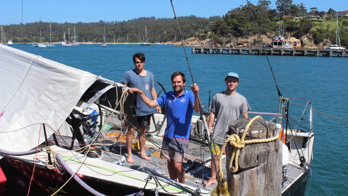 Tassie crew save the day: Gale Force crew members Liam McIntee