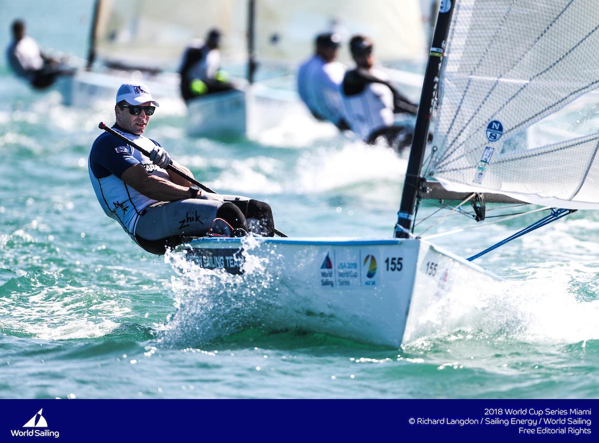 Ed-Wright-at-the-front-of-a-pack---Richard-Langdon/World-Sailing pic