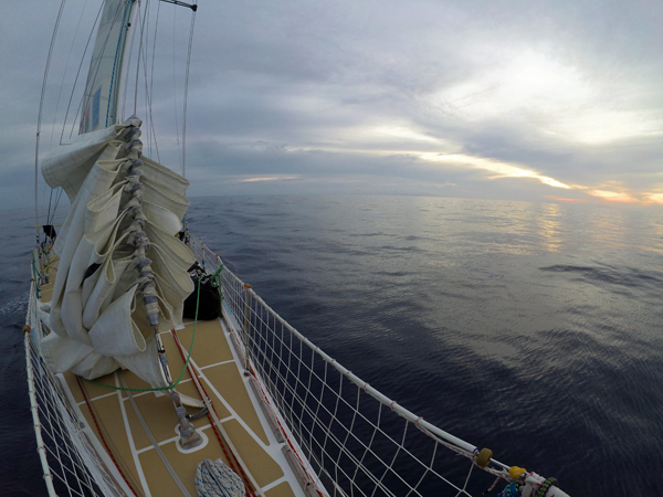 Light winds for the Clipper boats. Photo Clipper Ventures.