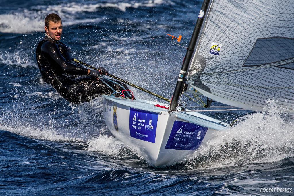 Weight ratio sailing-a-Finn-off-the-breeze---Robert-Deaves-pic