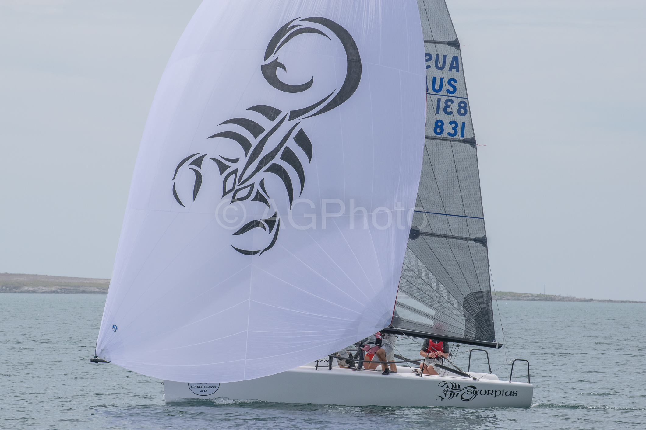 Scorpius was the boat of the day with two wins and a second. Photo Harry Fisher.