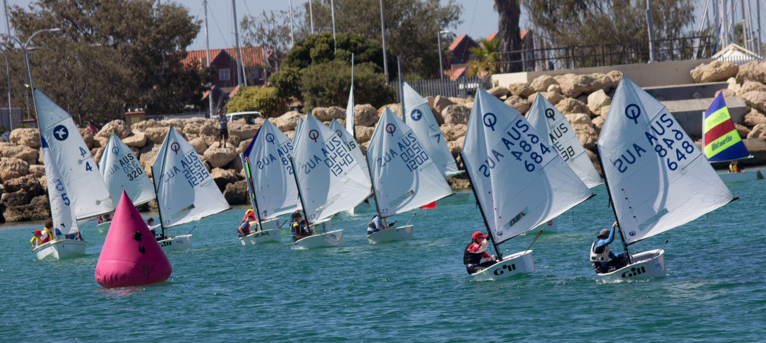 Dinghy racing at Hillarys in Perth. Photo supplied.