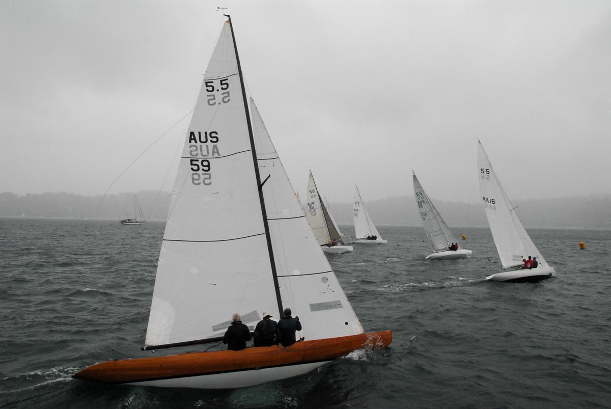 International 5.5 Metre Australian Championships 2018. Photo Tannis McDonald.