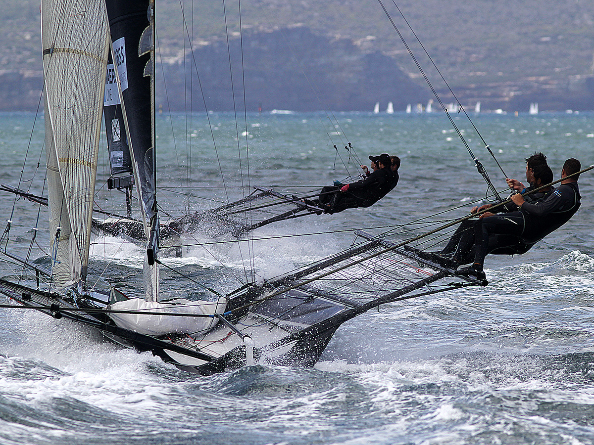 Finport chases Maersk Line in the 2018 JJ Giltinan. Photo Michael Crittenden.