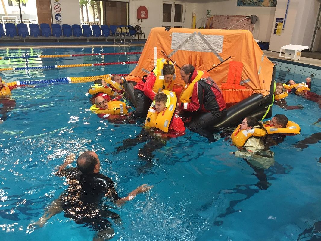 Safety and Survival at Sea course - Ian MacWilliams pic.
