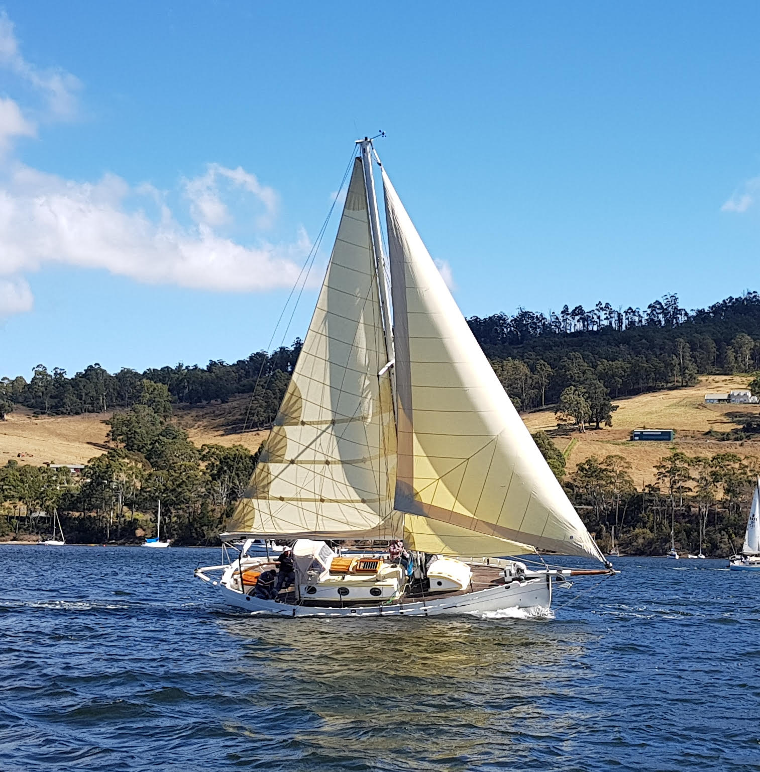 April of Cygnet competing in the Port Cygnet Yacht Club Regatta last weekend. Photo Jessica Coughlin.