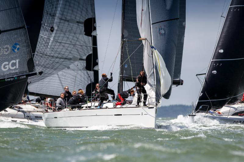 The mix of inshore and offshore races makes the IRC Europeans attractive to European entries like Frans & Carla Rodenburg's First 40 Elke from the Netherlands © Paul Wyeth/pwpictures.com.