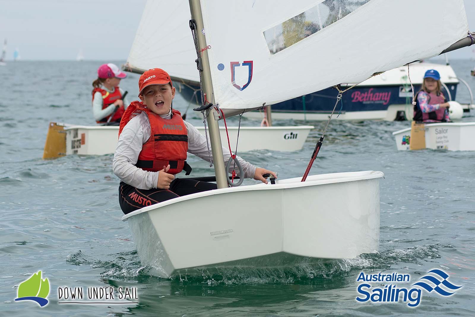 Fraser-Baker-participating-in-the-Optimist-green-fleet-last-year