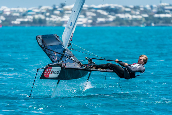 Bermuda's Benn Smith - youngest sailor at the event - Beau Outteridge pic
