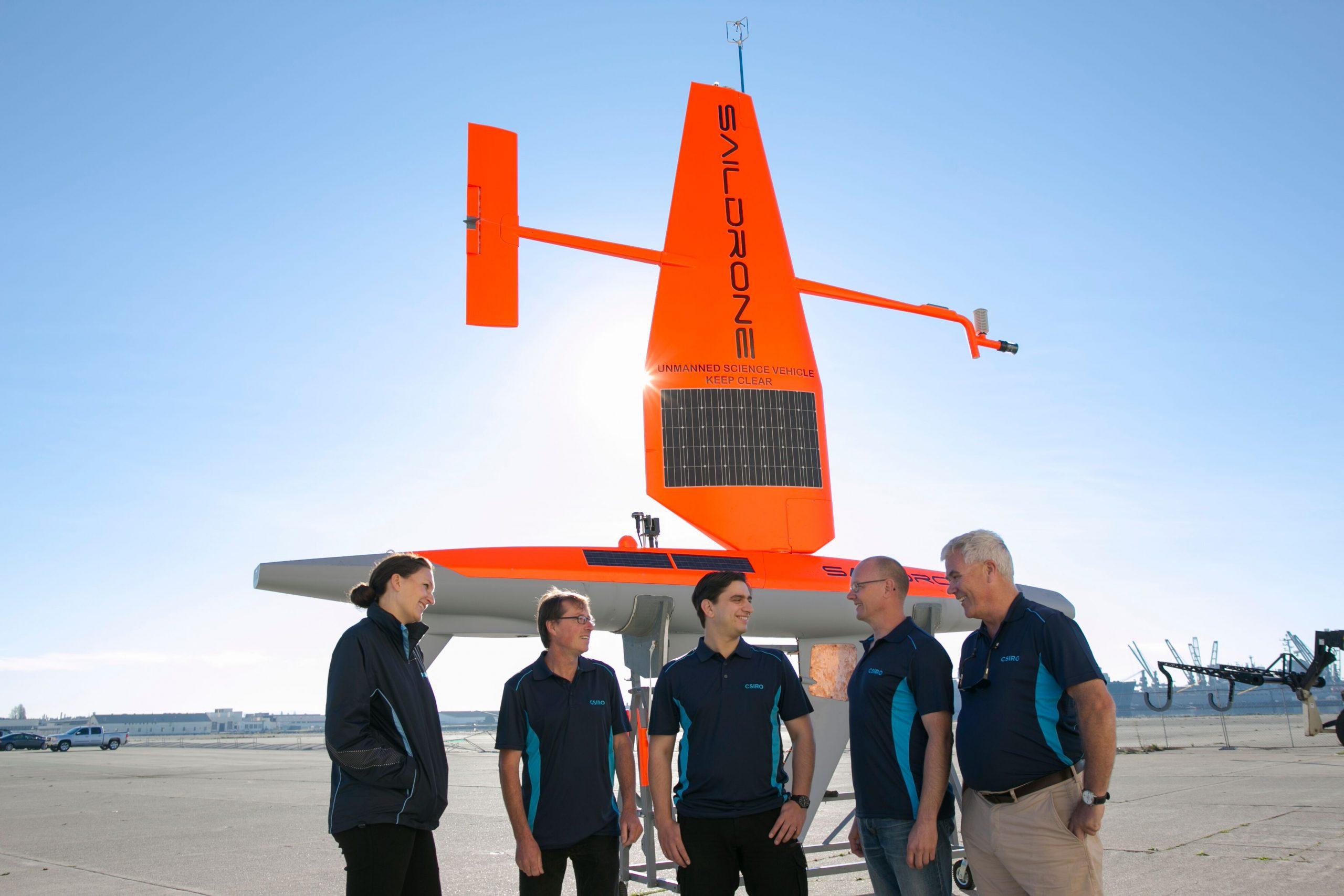CSIRO's-oceans-and-atmosphere-team-with-a-saildrone---CSIRO-pic