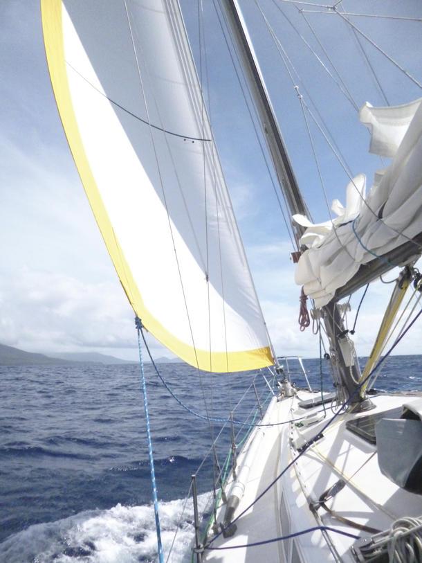 Sailing to Sola.