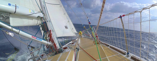 Clipper Race off the coast of Japan.