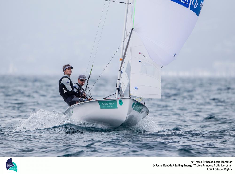 Matt Belcher and Will Ryan at Palma. Photo Jesus Renedo/Sailing Energy/World Sailing.