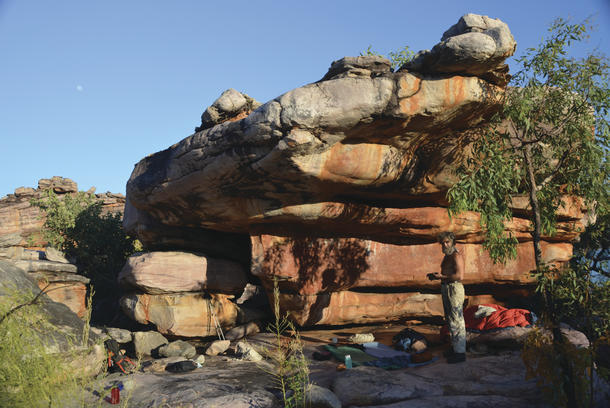 Overhang camp at Glycosmis.